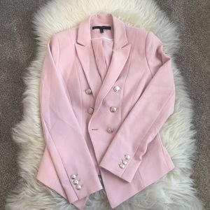 White House Black Market Pink Blazer Size 0